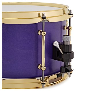 SJC Drums Tour Series 14x7 Snare Drum, Custom Purple Stain Brass HW