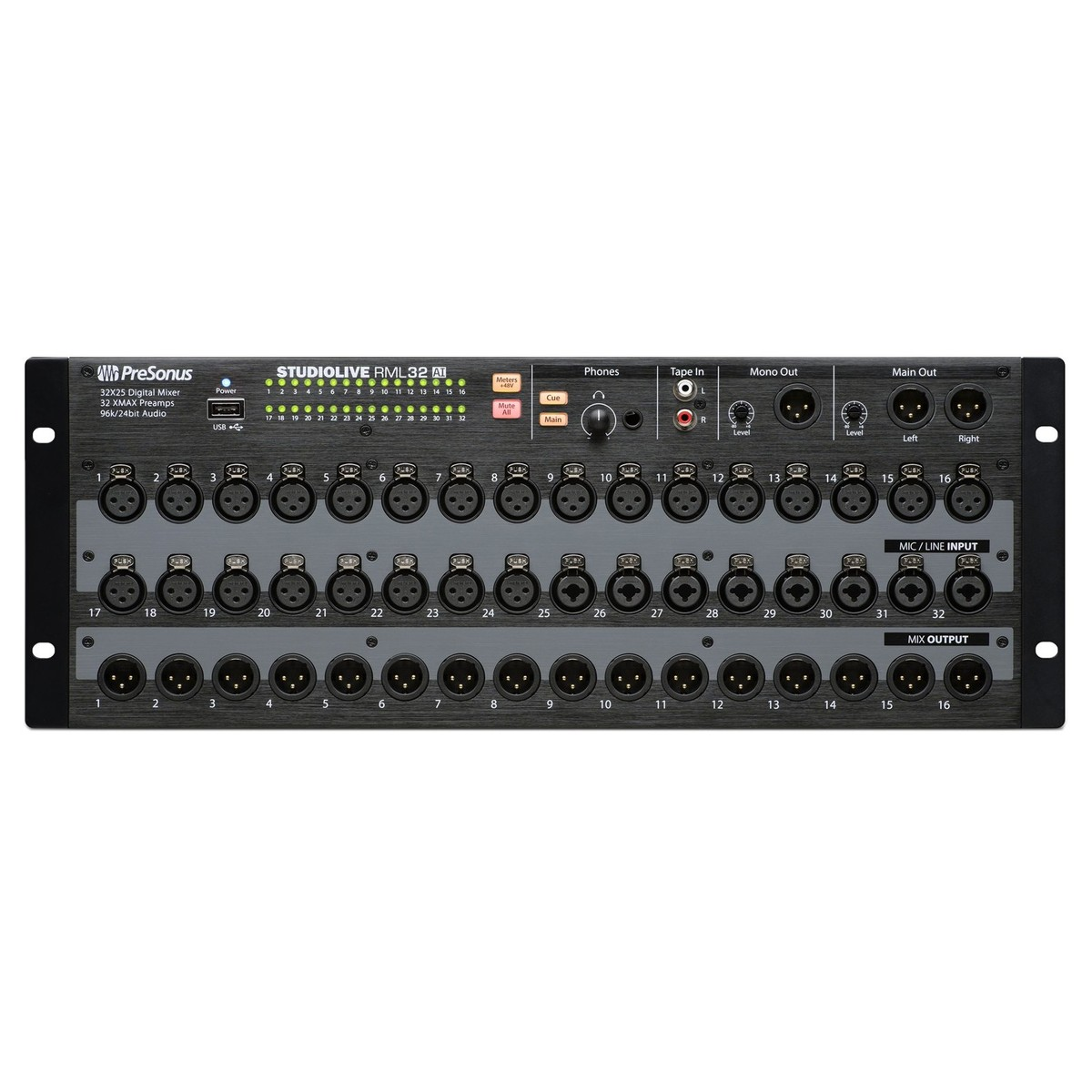 Disc presonus studiolive rml32ai rack mount digital mixer - Table de mixage professionnelle studio ...