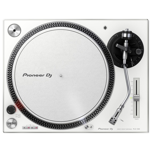 Pioneer PLX-500 Direct Drive Turntable, White - Top