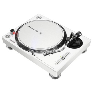 Pioneer PLX-500 Direct Drive Turntable, White - Angled