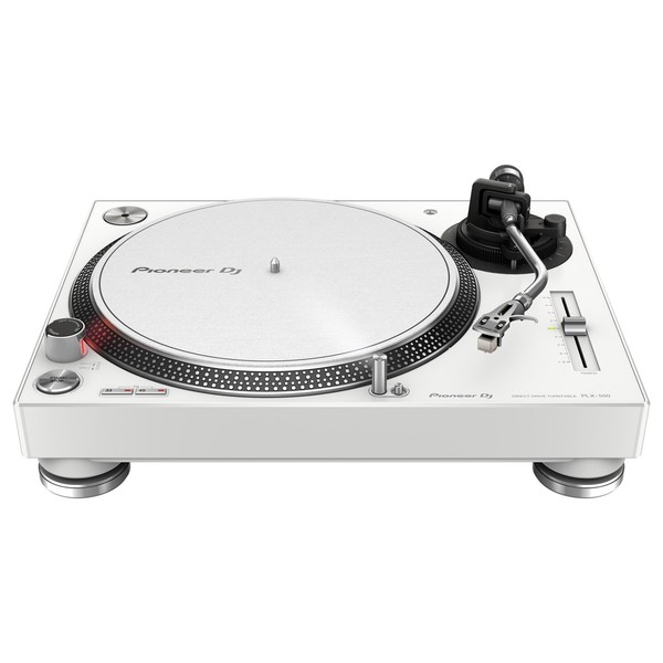 Pioneer PLX-500 Direct Drive Turntable, White - Bottom