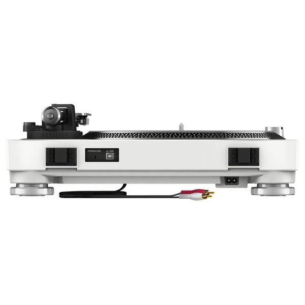 Pioneer PLX-500 Direct Drive Turntable, White - Rear