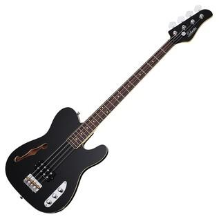 Schecter Baron-H Vintage Bass Guitar, GlossBlack