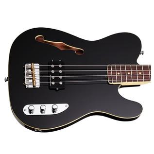 Schecter Baron-H Vintage Bass Guitar, Black