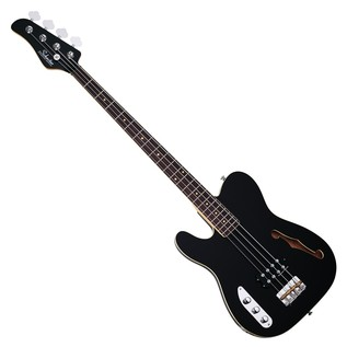 Schecter Baron-H Vintage Left Handed Bass Guitar, Gloss Black