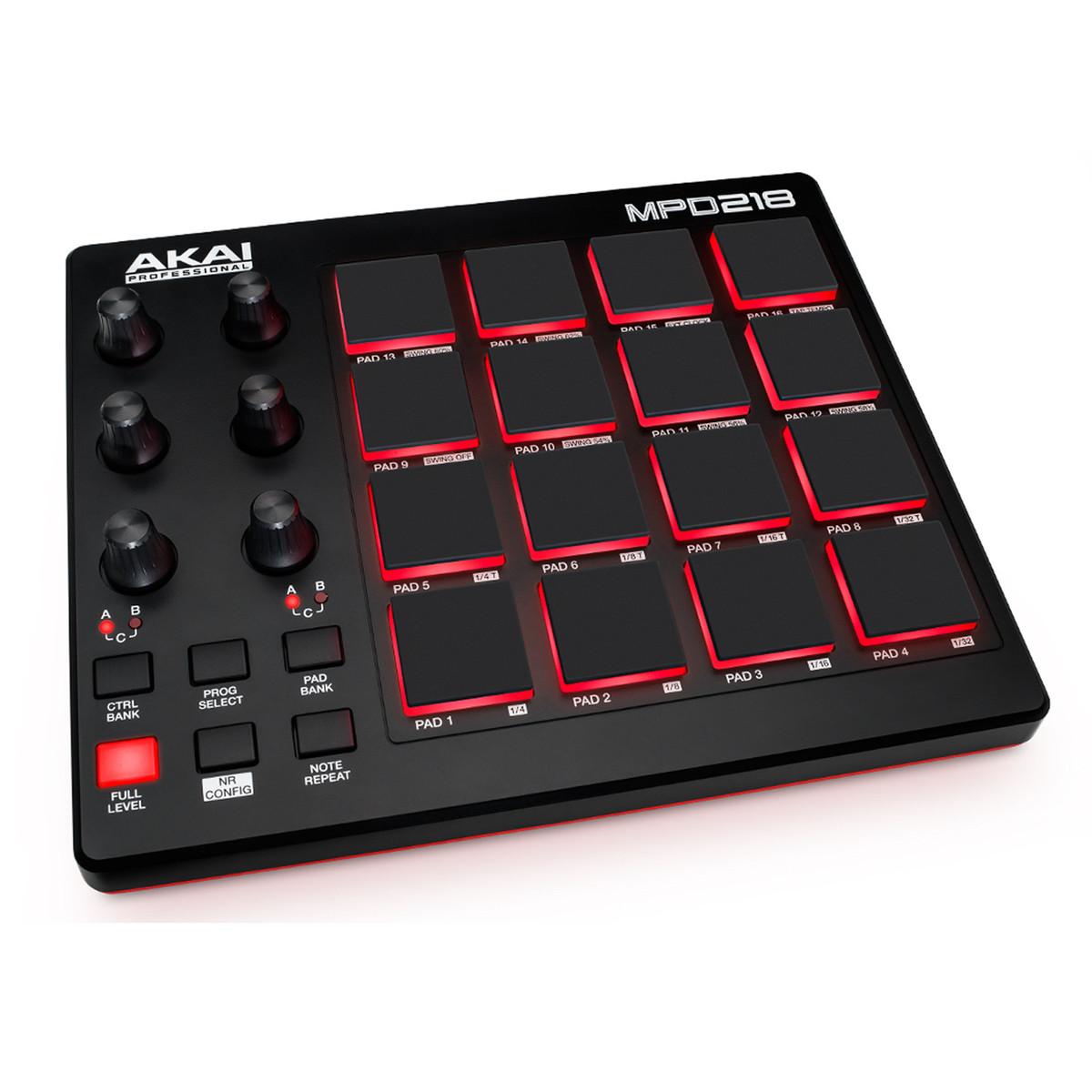 akai mpd218 pad controller b stock at gear4music. Black Bedroom Furniture Sets. Home Design Ideas