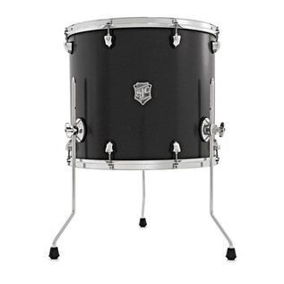 SJC Drums Tour Series 18'' x 16'' Floor Tom, Black w/Chrome HW