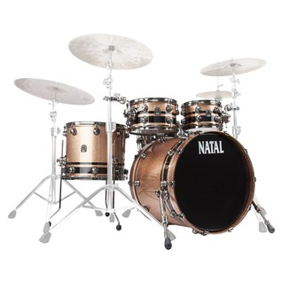 Natal Originals Birch 4pc Shell Pack, Champagne w/ Black Inlay