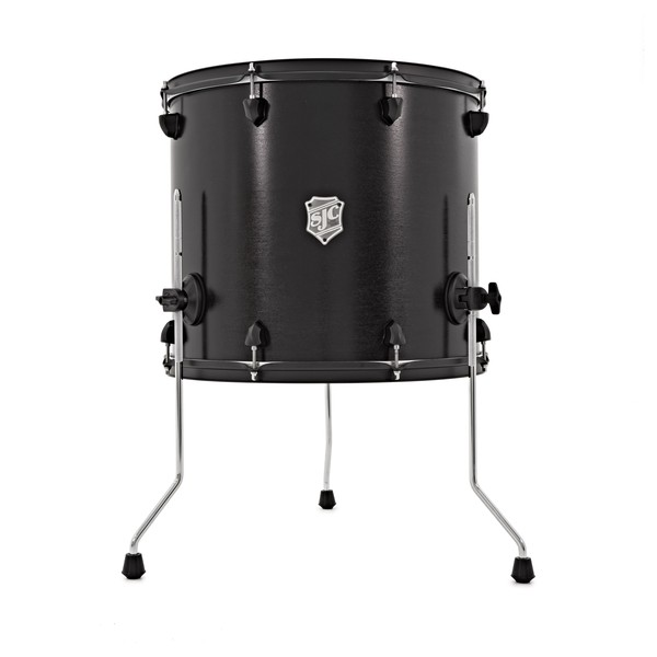 SJC Drums Tour Series 18'' x 16'' Floor Tom, Black w/Black HW