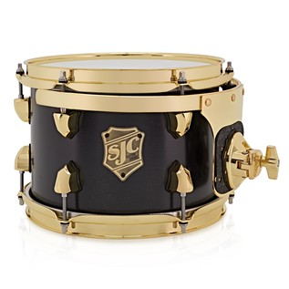 SJC Drums Tour Series 10x07 Add-on Tom, Black Satin Stain Brass HW