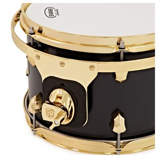 SJC Drums Tour Series 10x07 Add-on Tom, Black Satin Stain Brass HW