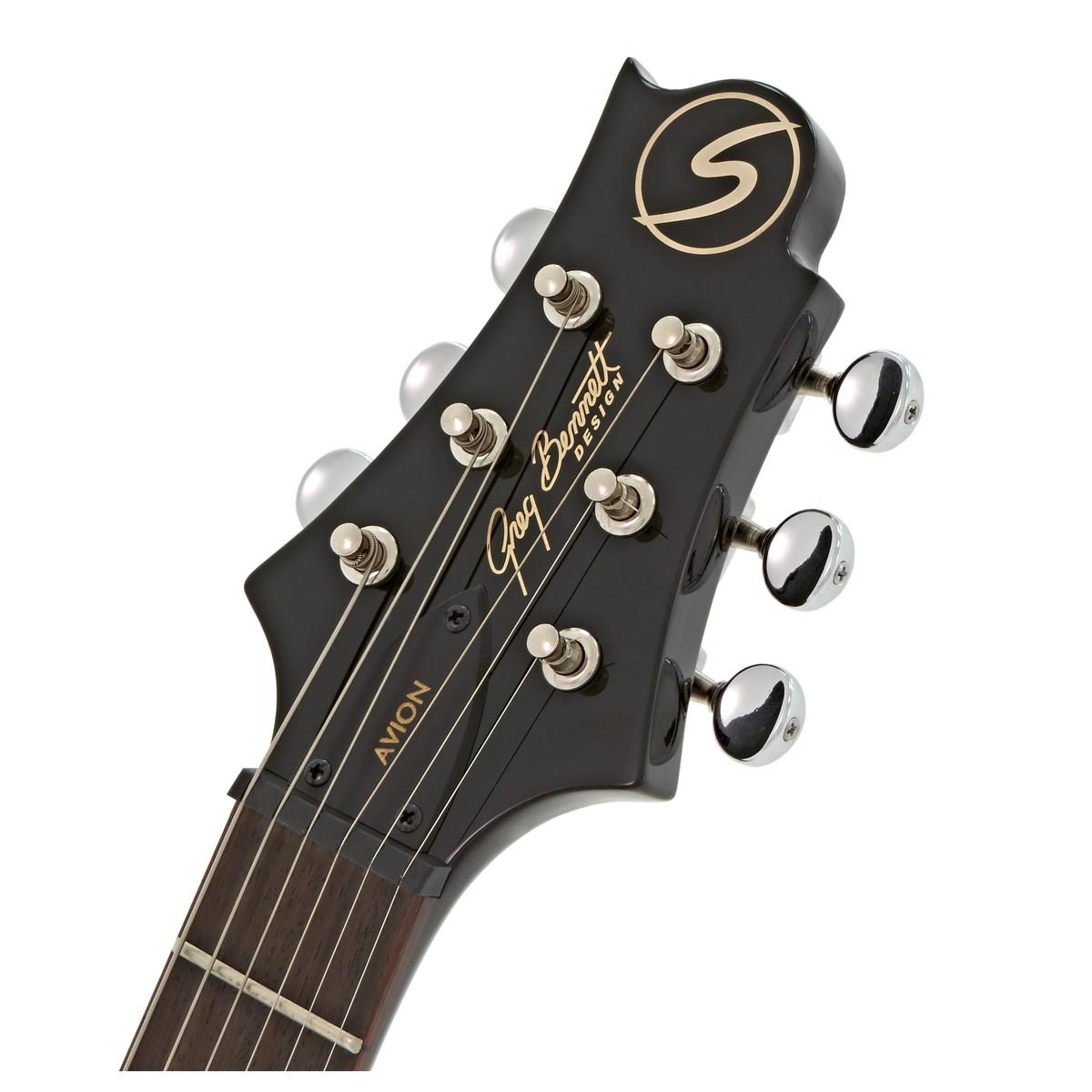 greg bennett avion mav 1 mini electric guitar black at gear4music. Black Bedroom Furniture Sets. Home Design Ideas