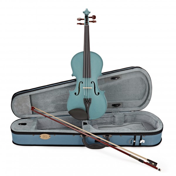 Stentor Harlequin Violin Outfit, Light Blue, 3/4, main