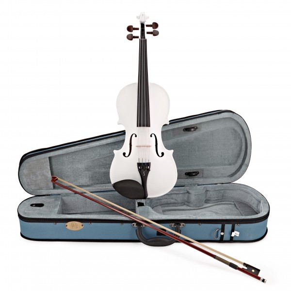 Stentor Harlequin Violin Outfit, White, 3/4 main