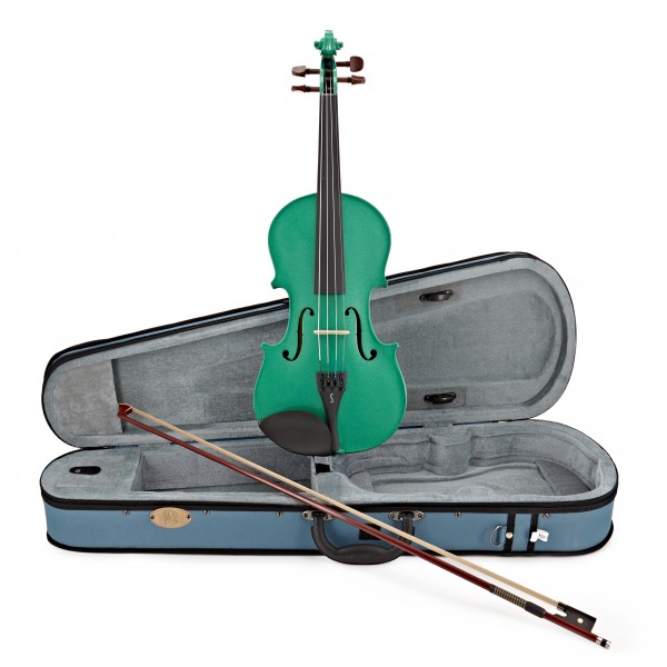 Stentor Harlequin Violin Outfit, Sage Green, 1/2 main