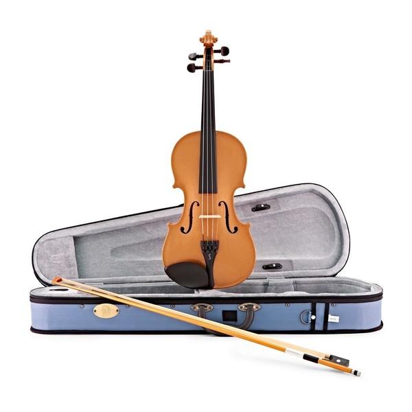 Stentor Harlequin Violin Outfit, Orange, 1/2 main