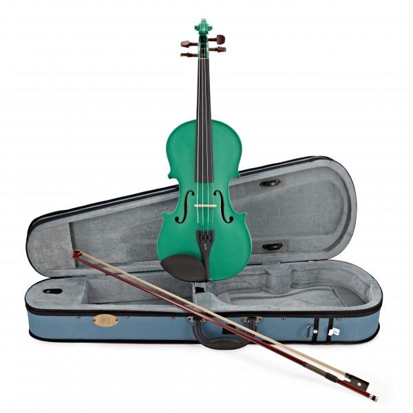 Stentor Harlequin Violin Outfit, Sage Green, 1/4 main