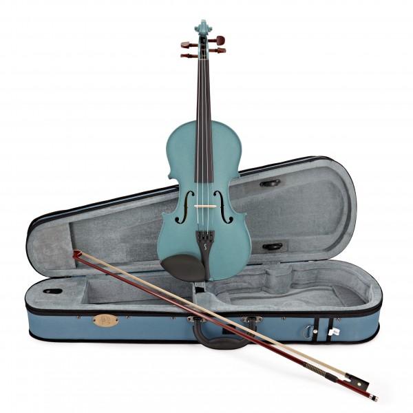 Stentor Harlequin Violin Outfit, Light Blue, 1/4, main