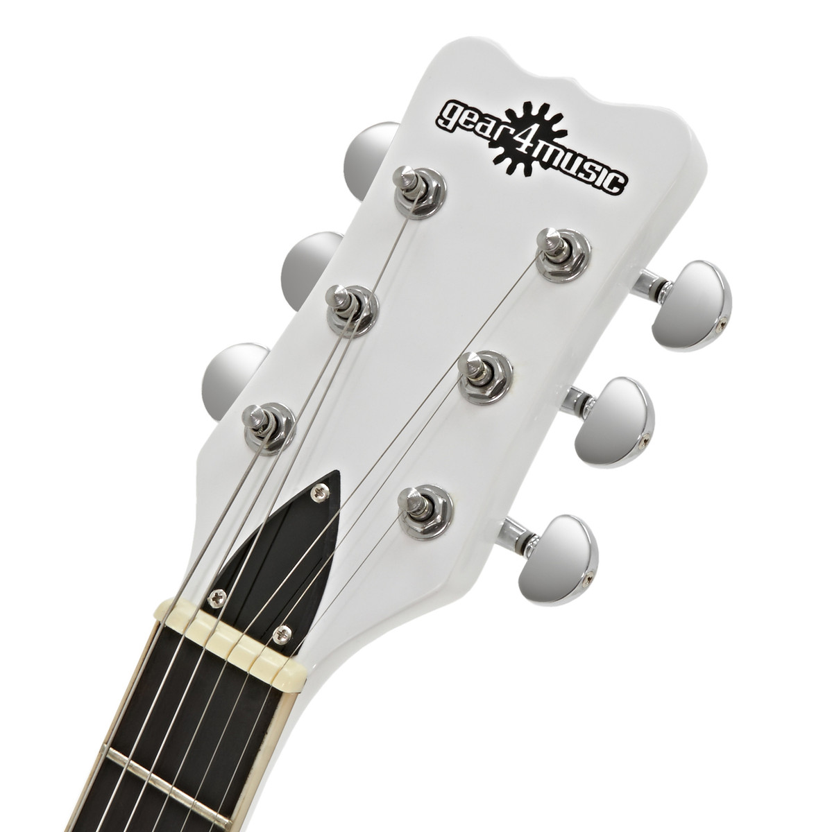 disc new jersey electric guitar by gear4music white b stock at gear4music. Black Bedroom Furniture Sets. Home Design Ideas