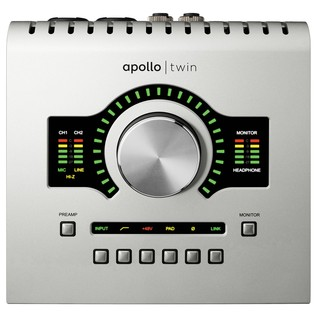 Universal Audio Apollo Twin Solo Thunderbolt Audio Interface - Top