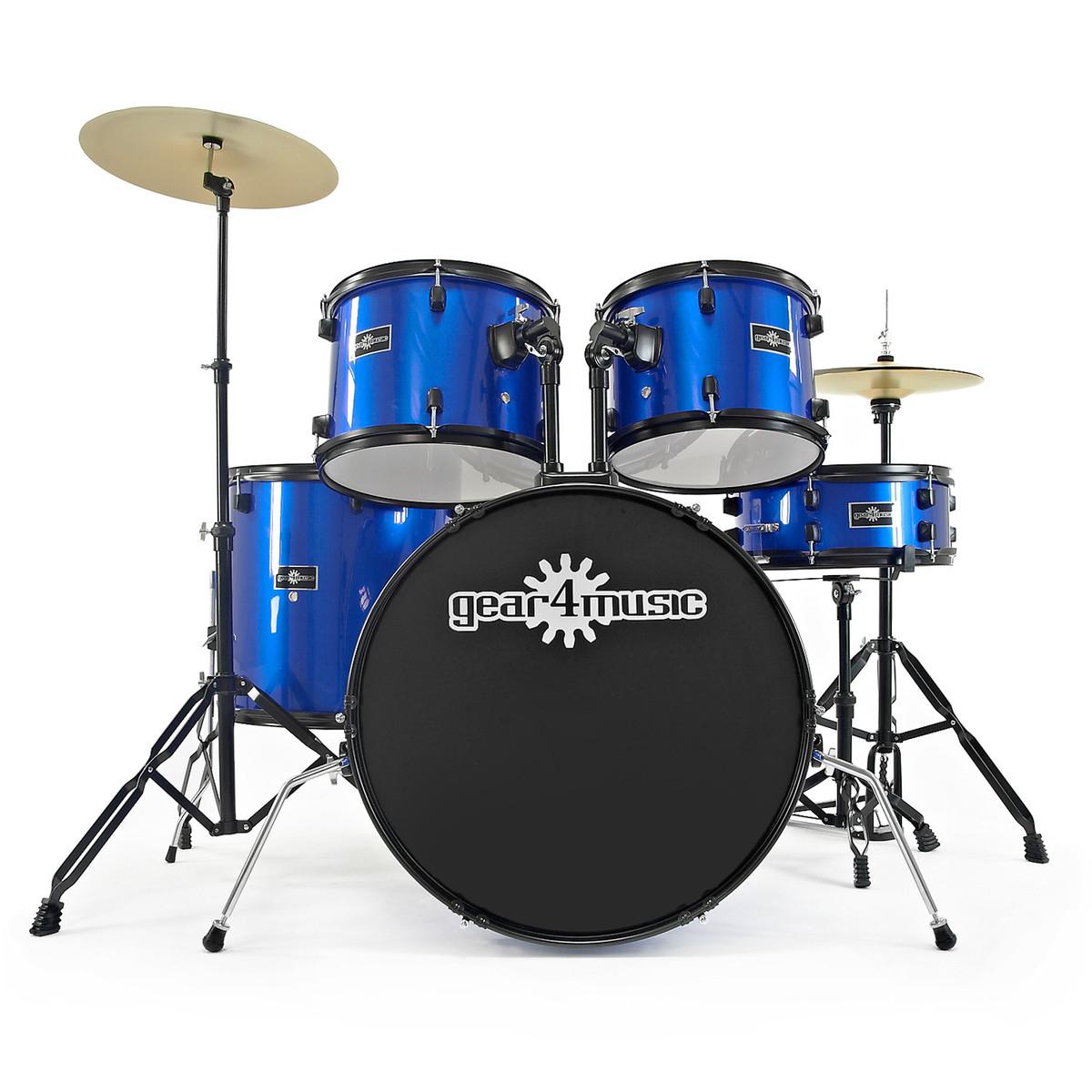 BDK 1 Full Size Starter Drum Kit By Gear4music Blue
