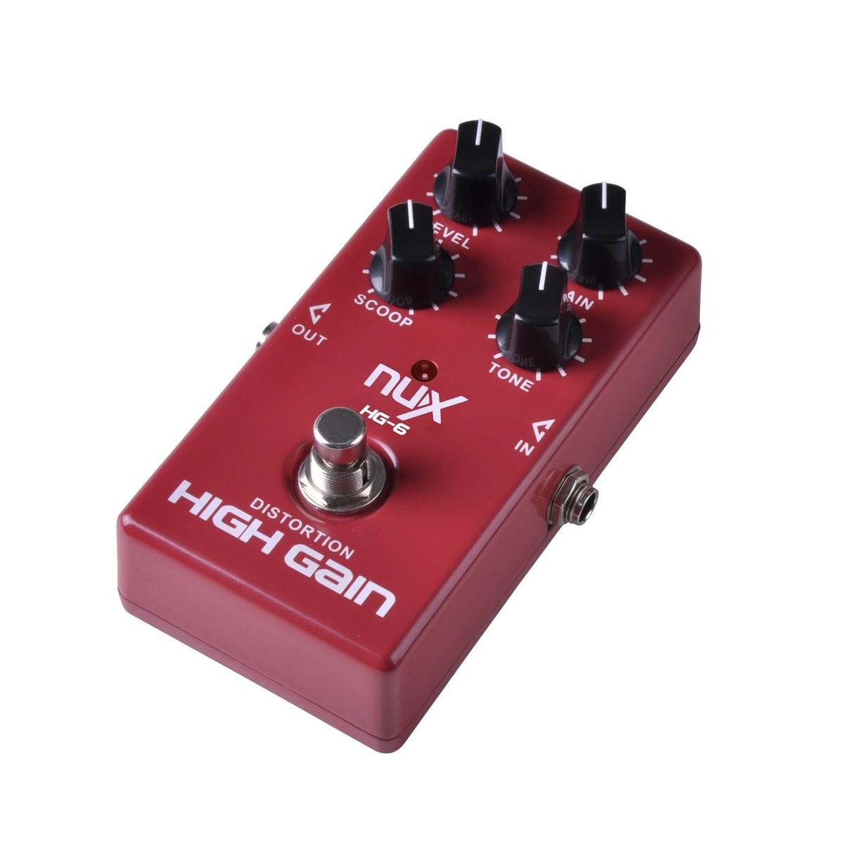 nux hg 6 high gain distortion guitar effects pedal at. Black Bedroom Furniture Sets. Home Design Ideas