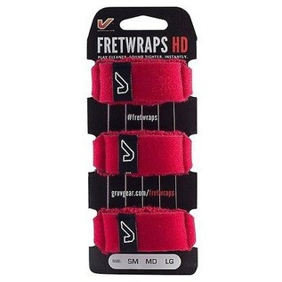 Gruv Gear FretWraps HD Fire 3-Pack Red, Large