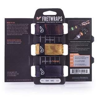 Gruv Gear FretWraps Wood 3-Pack Prints, Large