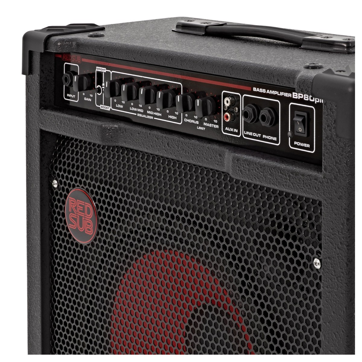 Redsub Bp80plus 80w Bass Guitar Amplifier At Gear4music Apmilifier Mini Circuit And Explanation Bp80 Loading Zoom