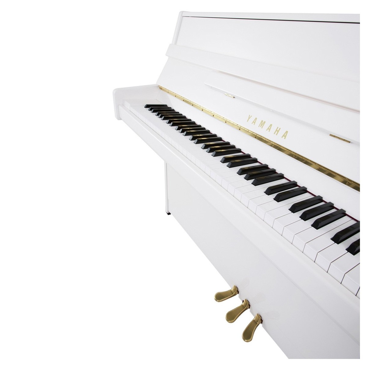 yamaha b1 upright acoustic piano polished white at gear4music. Black Bedroom Furniture Sets. Home Design Ideas
