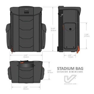 Gruv Gear Stadium Bag - Multi-Use Tech Cargo Backpack, Black