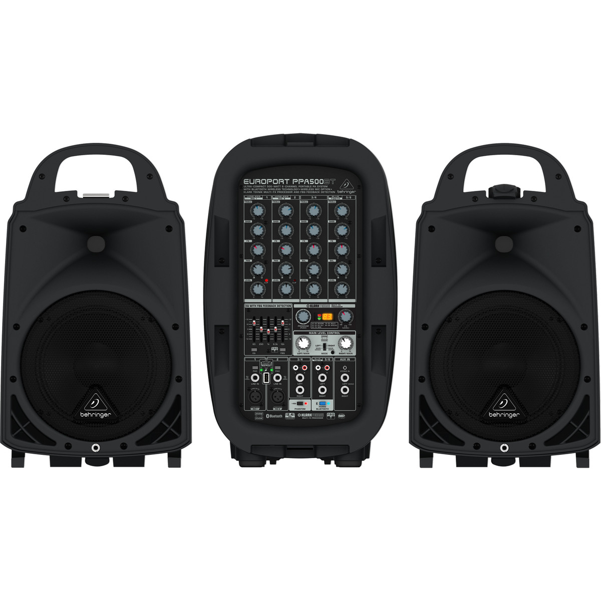 behringer europort ppa500bt 6 channel portable pa system box opened at gear4music. Black Bedroom Furniture Sets. Home Design Ideas