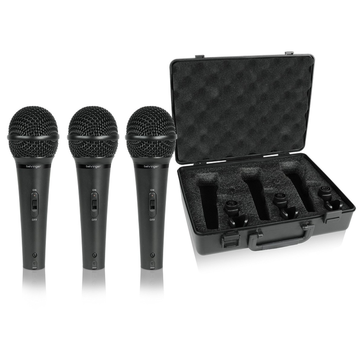Click to view product details and reviews for Behringer Xm1800s Ultravoice Dynamic Microphone 3 Pack.
