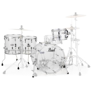 Pearl Crystal Beat 22'' Crossover 4 Pc Shell Pack, Ultra Clear