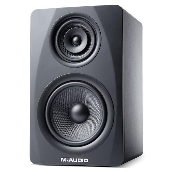 M-Audio M3-8 Studio Monitors, Black - Angled