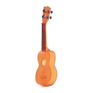 Makala Waterman MK-SWT/OR Soprano Ukulele, Clear Orange