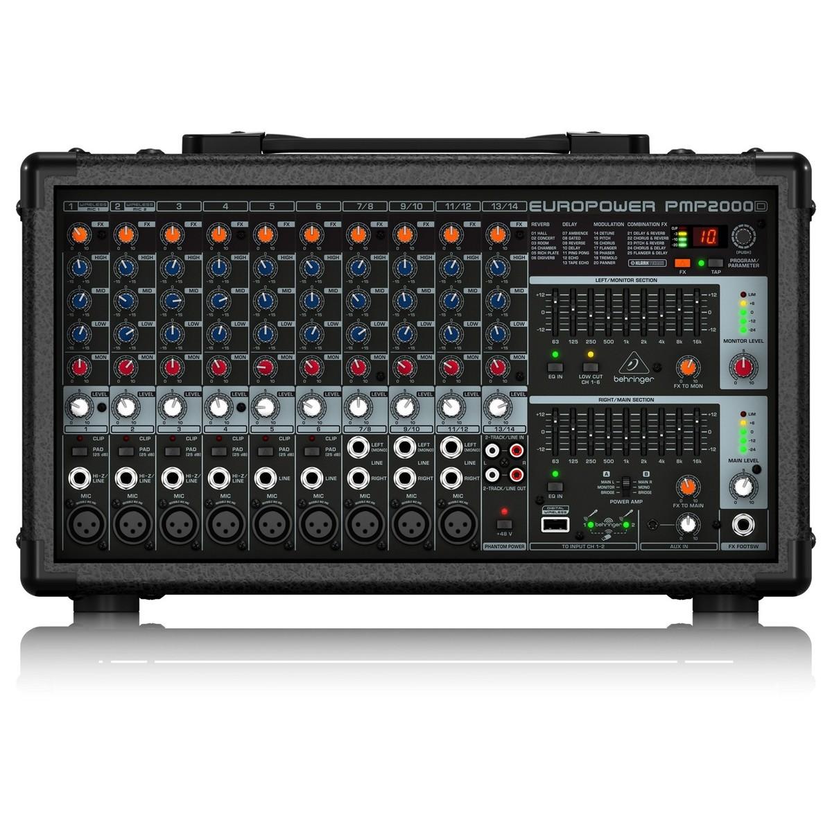 Behringer pmp2000d table de mixage amplifi e gear4music - Console de mixage amplifiee ...