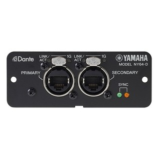 Yamaha NY64 Dante Expansion Card for TF Series Mixers