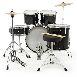 GD-2 Drum Kit by Gear4music, Black
