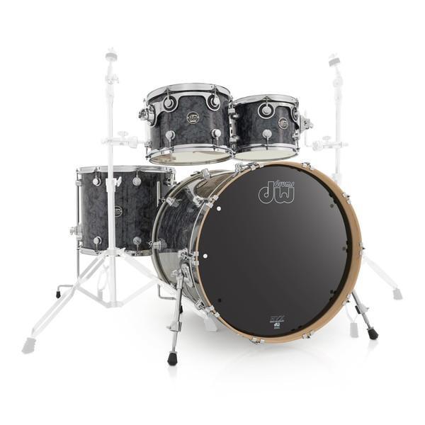 "DW Drums Performance Series 22"" 4 Piece Shell Pack, Black Diamond"