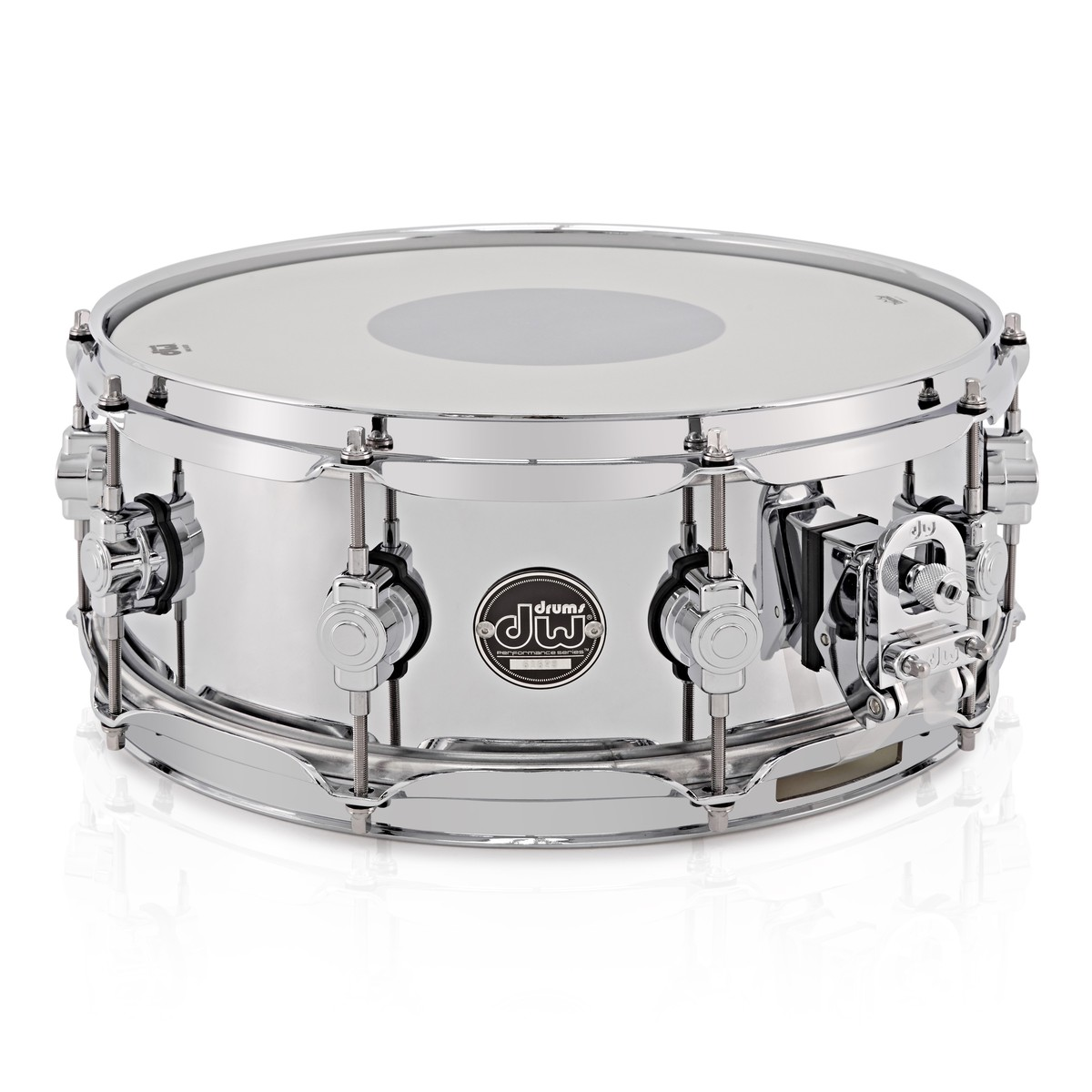 dw drums performance series 14 x 5 5 snare drum steel at gear4music. Black Bedroom Furniture Sets. Home Design Ideas