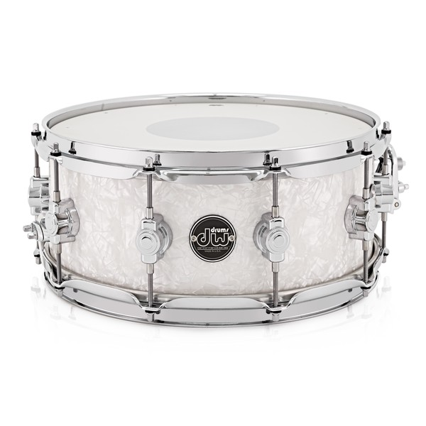 "DW Drums Performance Series 14"" x 5.5"" Snare Drum, White Marine"