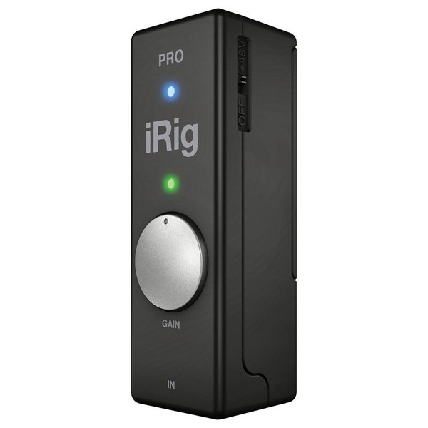 IK Multimedia iRig Pro Audio/MIDI Interface for iOS Devices - Angled Front