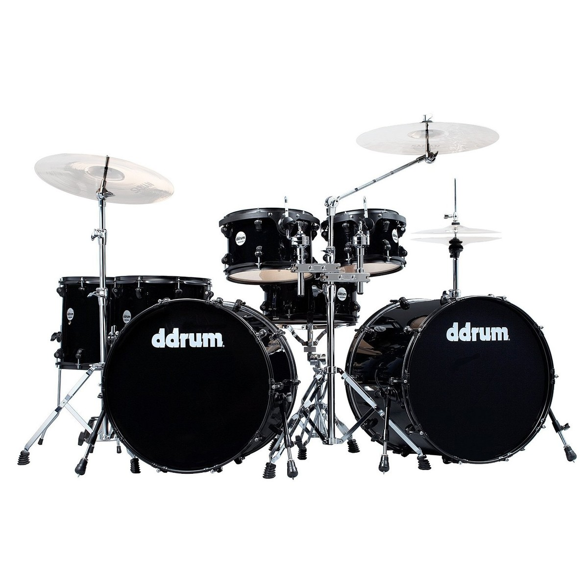 ddrum journeyman 7pc double bass drum kit w hardware