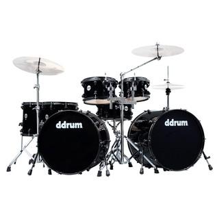 DDrum 7 Piece JourneyMan Double Bass Drum Kit w/ Hardware, Black
