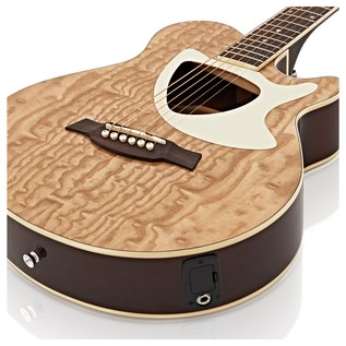 Deluxe Thinline Electro Acoustic Guitar by Gear4music, Natural