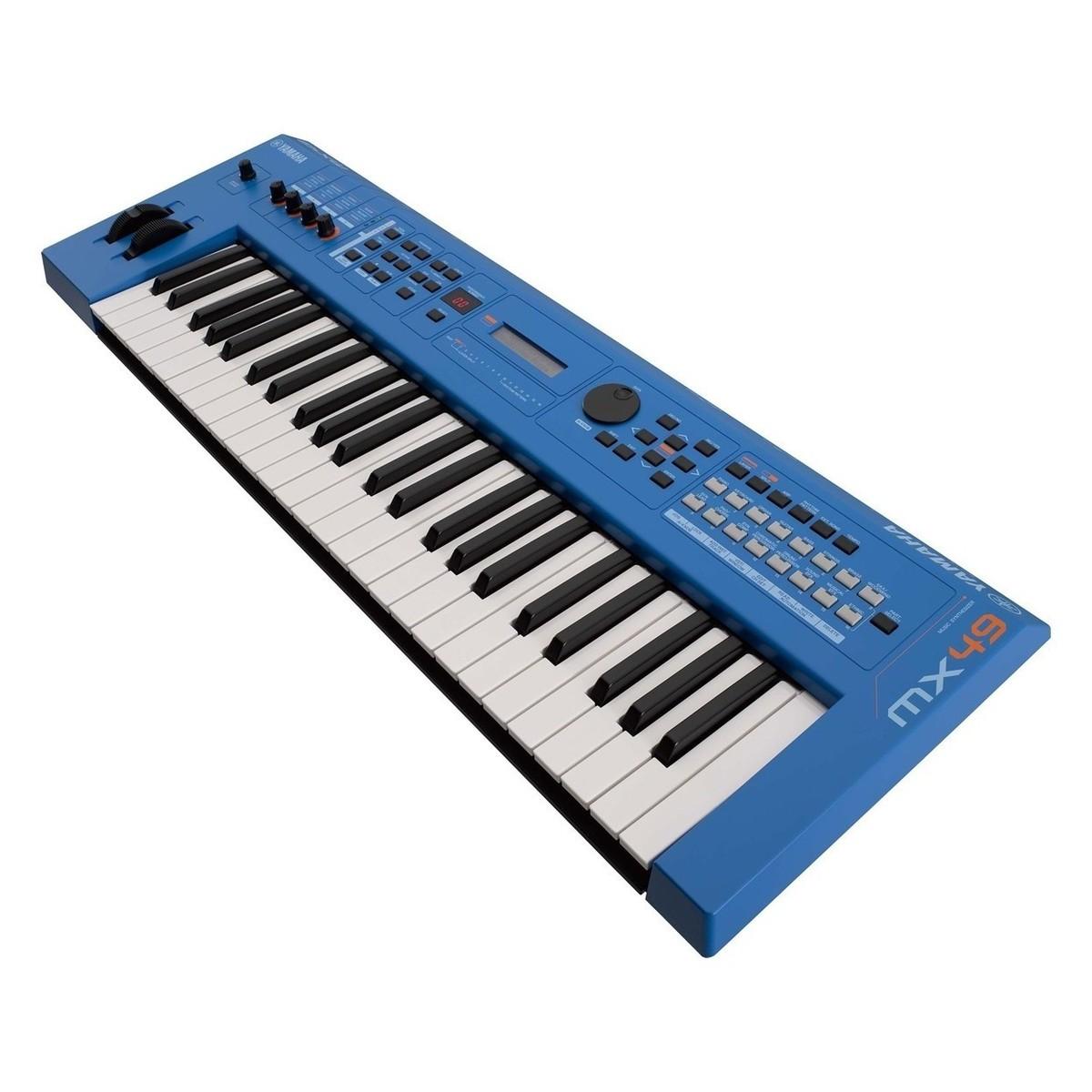 Yamaha MX49 II mit Ständer und Kopfhörer, blau bei Gear4music