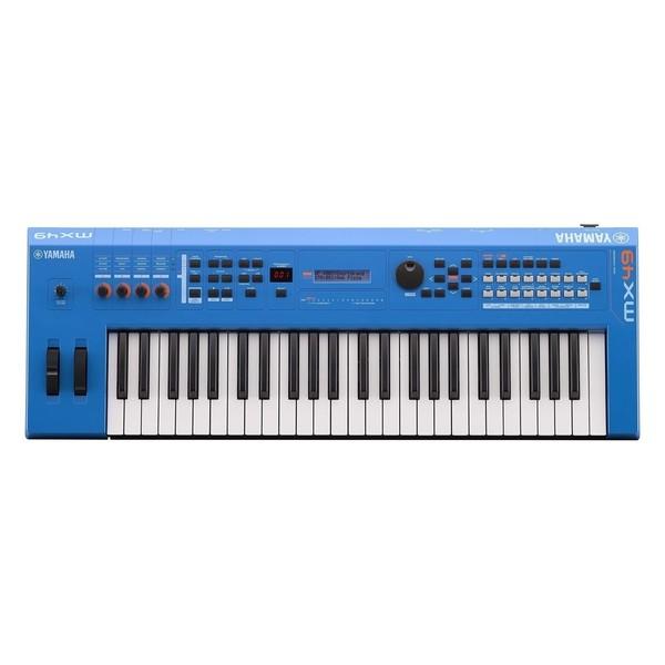 Yamaha MX49 II with Stand and Headphones, Blue - Yamaha MX49 II Top