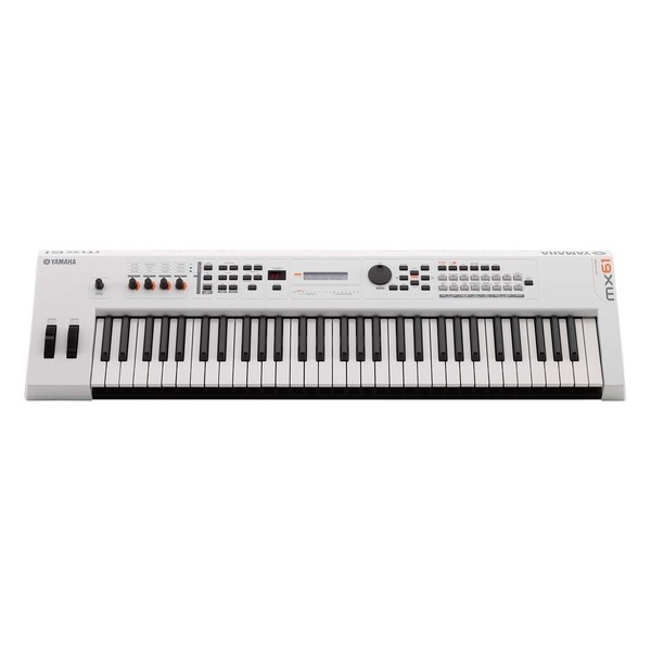 Yamaha MX61 II with Stand and Headphones, White - MX61 Front