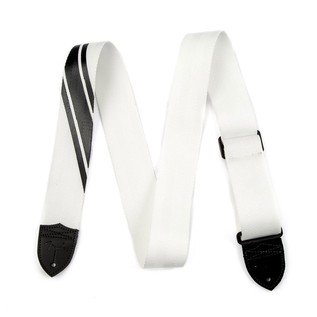 Fender Competition Stripe Guitar Strap, White and Black